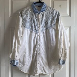 Vintage button shirt with embellishments